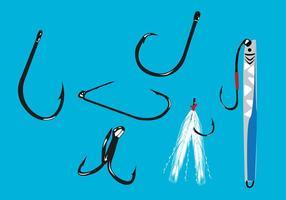 Illustrazione vettoriale gancio di pesca
