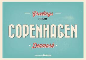 Retro illustrazione di saluto di Copenaghen