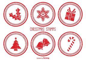 Francobolli di Natale angosciati vettore