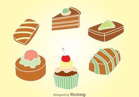 Set di torta al cioccolato vettore