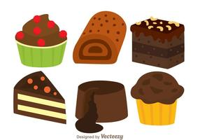Deliziosa torta al cioccolato vettore