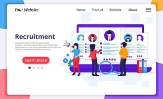 landing page di reclutamento online