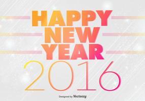 Felice anno nuovo 2016 sfondo vettore