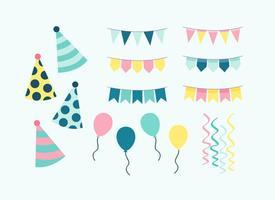 Vettore degli elementi della festa di compleanno