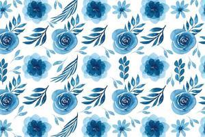 disegno floreale dell'acquerello blu