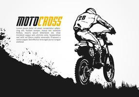 Illustrazione vettoriale di motocross