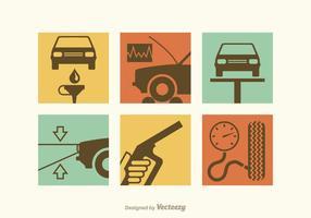 Icone di vettore di riparazione auto