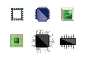 Vettore gratuito di microchip