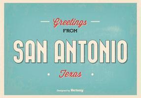 illustrazione di saluto San Antonio retrò