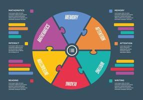Fondo di vettore del diagramma di Infographic