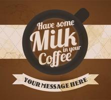 Sfondo di caffè gratuito con tipografia