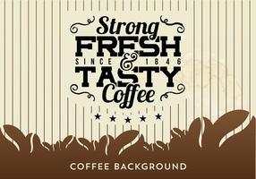 Sfondo di caffè con tipografia vettore