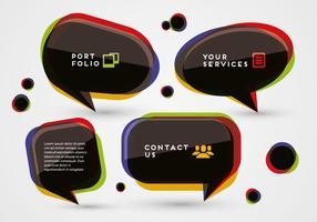 Vettore di bolle di discorso colorato gratuito