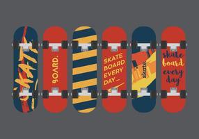 Skateboard Vector Illuustration Set