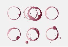Macchia di vino vettoriale