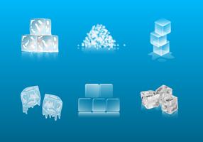 Vettore gratuito di ghiaccio tritato