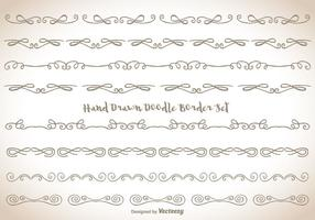 Insieme di bordo Doodle disegnato a mano