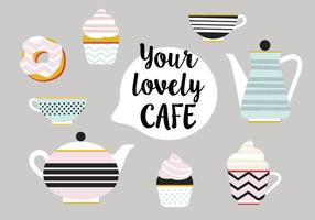 Set di icone vettoriali di tè