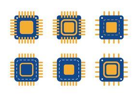 Icona Microchip vettore