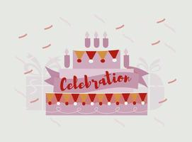 Sfondo vettoriale di celebrazione compleanno gratis