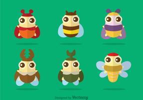 Vettore di insetti carino