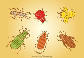Vettore di insetti del fumetto