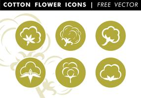 Vettore libero delle icone piane del cotone