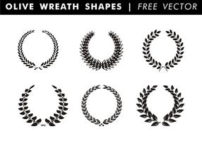 corona di ulivi forme vettoriali gratis