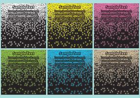 Modelli di polvere di stelle vettore
