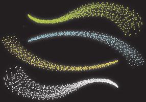 onde di polvere di stelle vettore