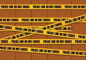 Vettore linea di polizia
