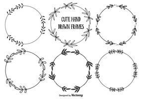 Set di cornici disegnate a mano carina