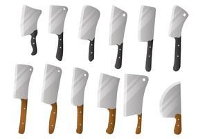 Insieme di vettore del coltello grande mannaia