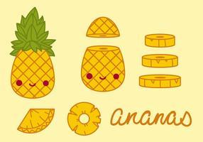 Ananas ananas vettoriale