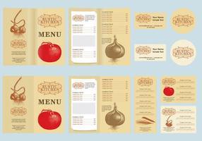 Vettore di menu rustico