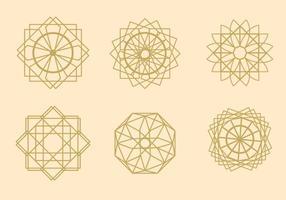 Vettori geometrici arabesco