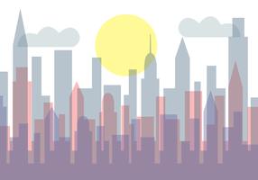 Vettore gratuito di paesaggio urbano