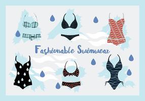 Swimwear della donna e fondo di vettore dei costumi di nuotata