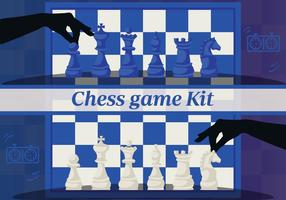 Insieme degli elementi di disegno di scacchi Vector Backgorund