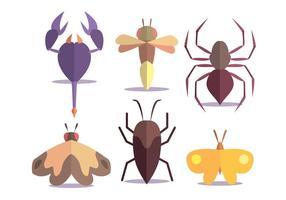 Set vettoriale di insetti