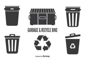 Bidoni della spazzatura e di riciclaggio