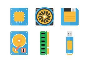 Icone piatte della CPU