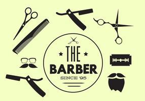 Insieme vettoriale di strumenti del barbiere
