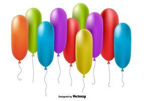 Palloncini colorati realistici vettore