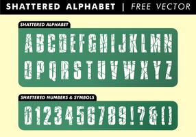 Alfabeto in frantumi vettoriali gratis