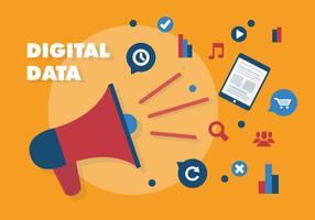 Fondo di vettore di vendita digitale piatto gratuito