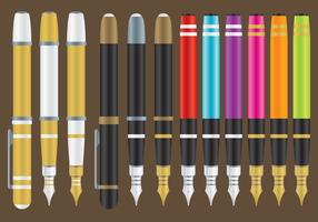 Penne stilografiche vettore