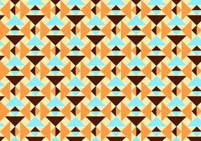 Arancia e Teal Abstract Pattern Vector