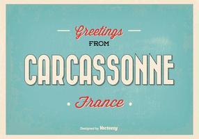 Illustrazione di saluto di Carcassonne Francia
