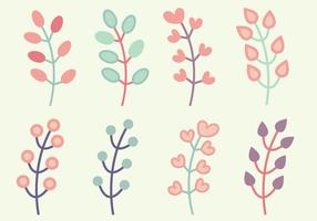 Vettore gratuito di elementi floreali